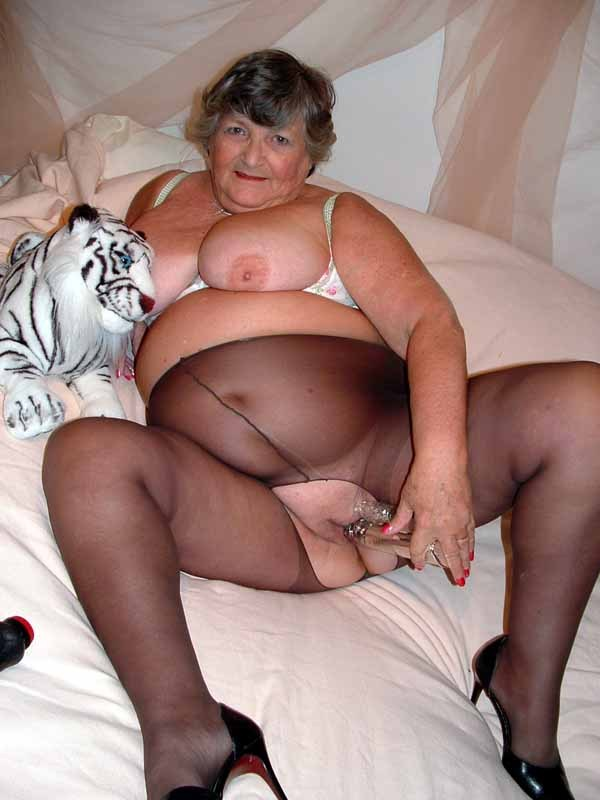 Old granny in pantyhose
