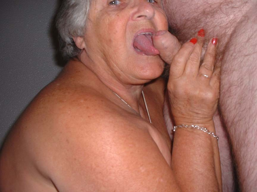 Granny sucked my cock right! think