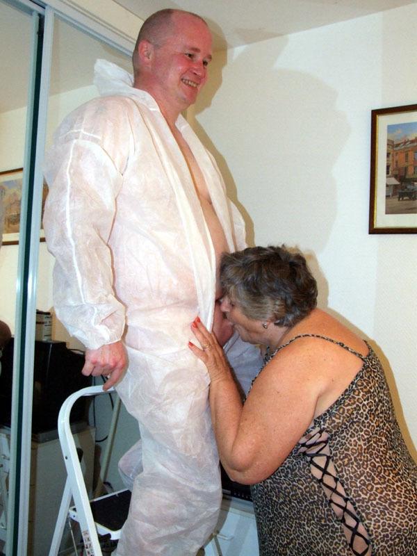 Fat granny facesitting