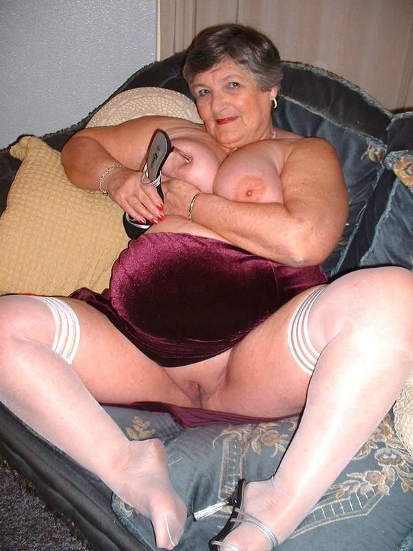 Grandma in pantyhose and nylons