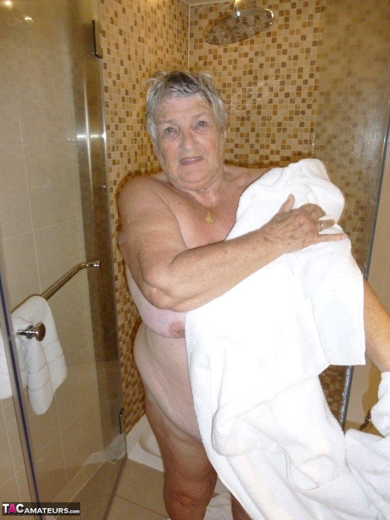 bbw granny takes a shower » bbw granny