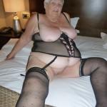 BBW slut in black basque & stockings