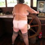 Sexy sailor fucks herself